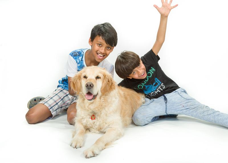 Noah & Nathan with Molly Dog
